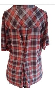 Eden & Olivia plaid shirt with down the back